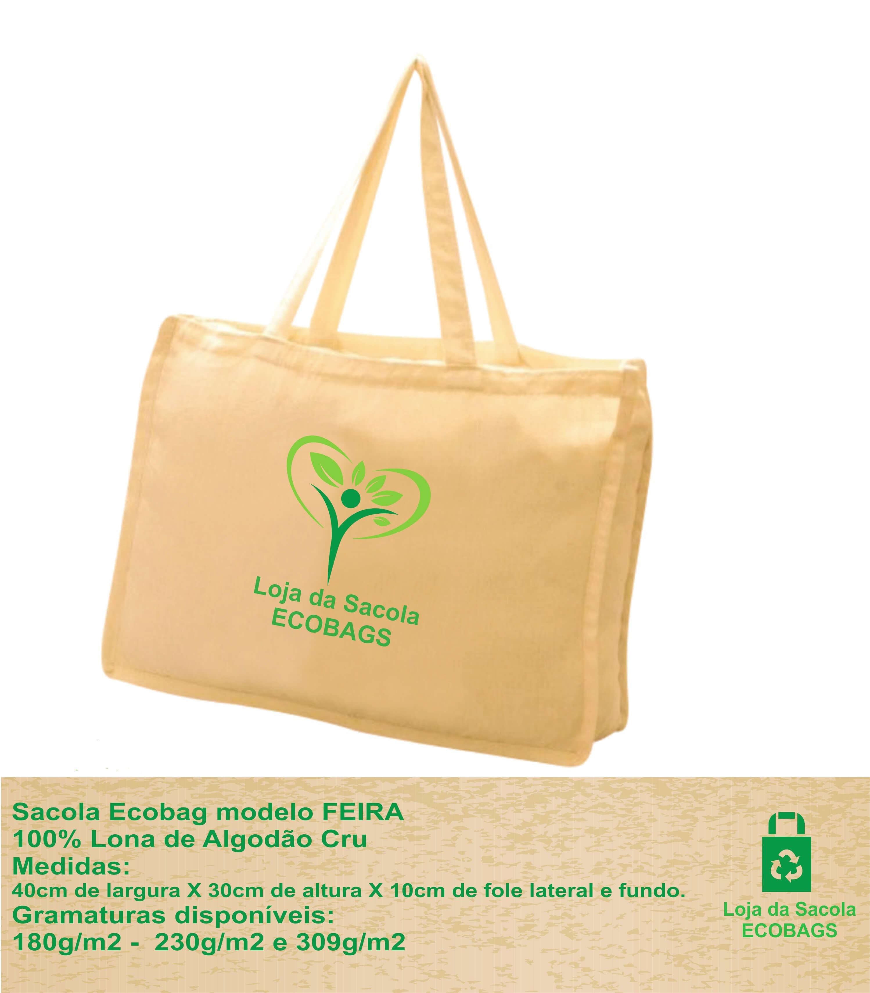 Sacola Ecobag Modelo FEIRA