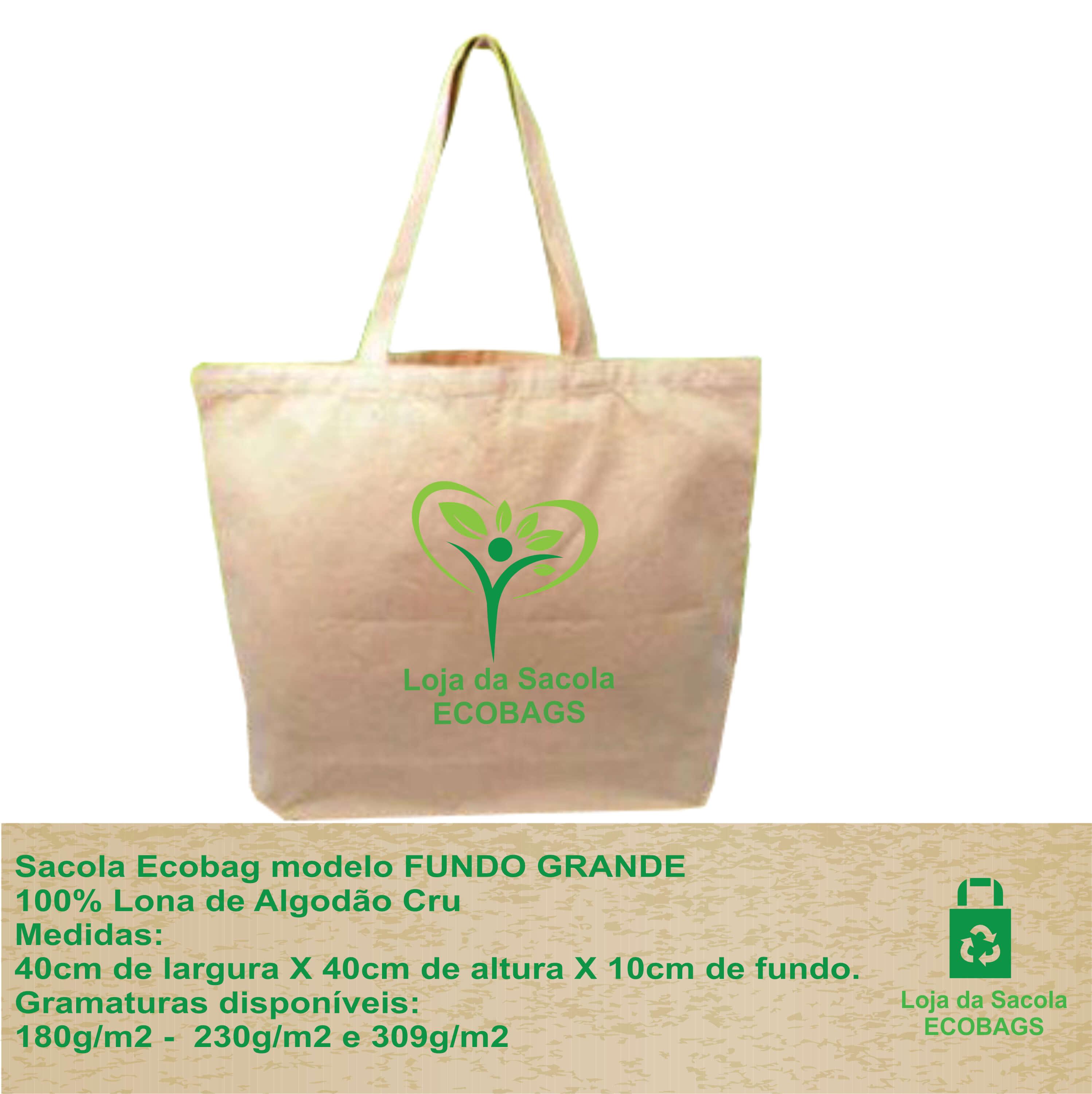 Sacola Ecobag Fundo Grande