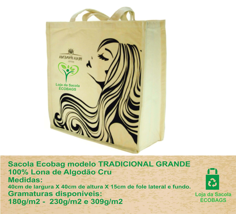 Sacola Ecobag - Modelo Tradicional Grande